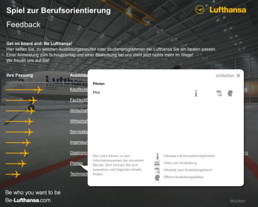 bildquelle screenshot - Be Lufthansacom Bewerbung