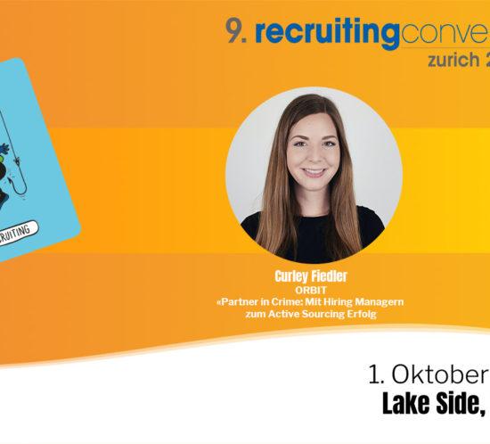 Curley Fiedler wird am 1. Oktober im Lake Side Zürich an der Recruiting Convention ein Referat halten.