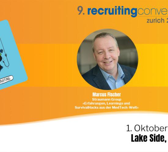 Marcus Fischer gehört zu den Referenten an der Recruiting Convetion am 1. Oktober in Zürich