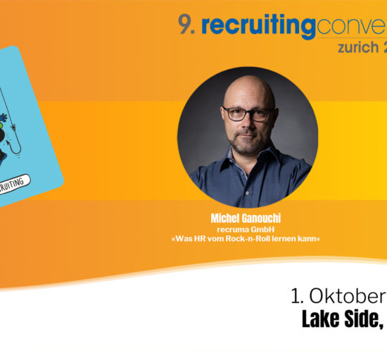 HR-Experte Michel Ganouchi referiert an der recruitingconvention vom 1. Oktober in Zürich