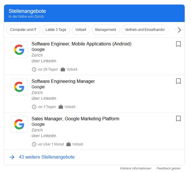Google for Jobs im Fokus von Prospective im Blog