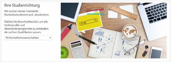 Allianz Karriere Webseite Potentialpark