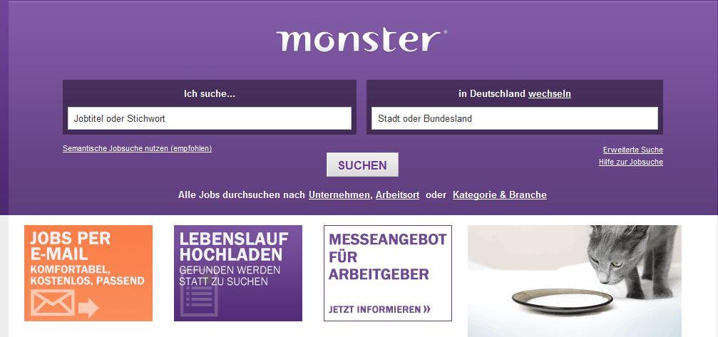 monster jobboerse promotion. monster jobs auf jobsheuteat. erkunde ...