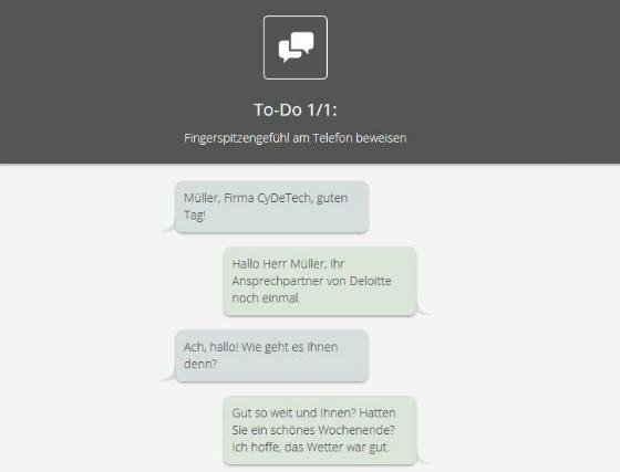 Online Praktika Rekrutierung