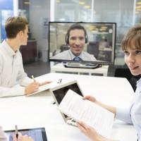 Videokonferenz als Ersatz für ein traditionelles Bewerbungsgespräch