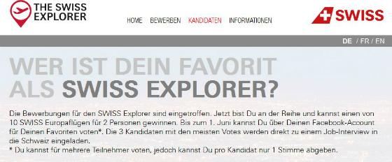 Die Swiss vergibt einen Traumjob