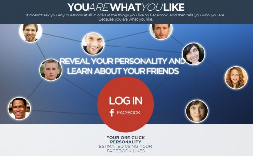 You are what you like Screenshot